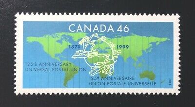 Canada #1806 MNH, Universal Postal Union Emblem on Map Stamp 1999