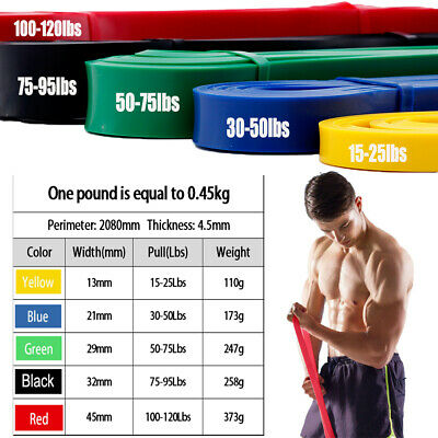 Resistance Bands set Pullup Fitness Heavy Duty Exercise Strength Gym Lift Loops
