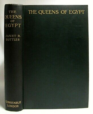 Antique 1908 THE QUEENS OF EGYPT Ancient Egyptian History BUTTLES Archaeology
