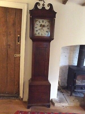 Grandfather Clock. H G Hanks Of Malmsbury