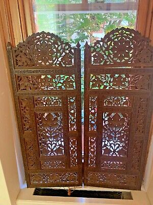 Indian sandalwood wall screen