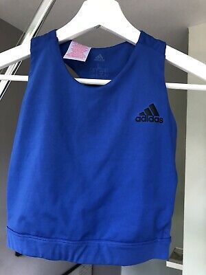 Adidas Girls Sports Top In Blue/turquoise Size L 13-14yrs BNWT