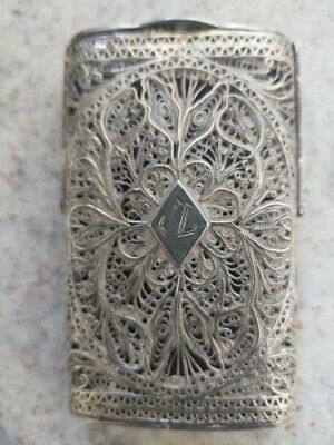 WW2 Era Silver Indian Silver Card Case/Holder - Intricate Detail/Rare!