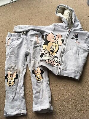 Girls Gorgeous Tracksuit George Minnie Mouse Age 3-4