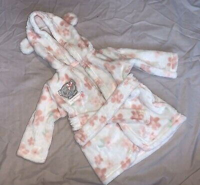 George Tatty Teddy Baby Girl Dressing Gown 0-3 Months