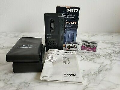 Sanyo TRC-520M Microcassette Recorder, Voice Dictaphone, With Box And Tapes