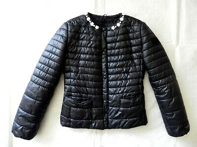 Monnalisa Girl's Black Coat Jacket Size 10 (to fit 8-9-10y)