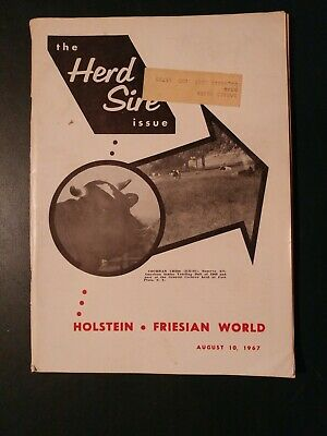 Holstein World 1967 Herd Sire Issue + Curtiss Sire Directory + National Sale ++