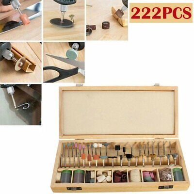 222PCS Rotary Tool Accessories Kit Grinding Polishing Shank Craft Bit for Dremel