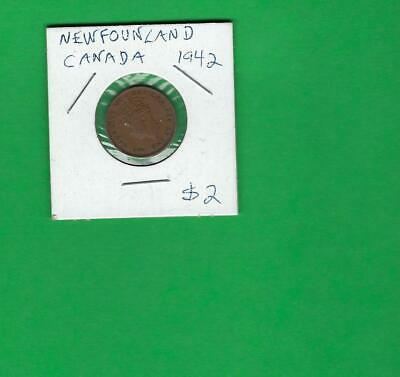 Newfoundland , Canada 1942 ~ Old Coin Item  # 401 (*-*)