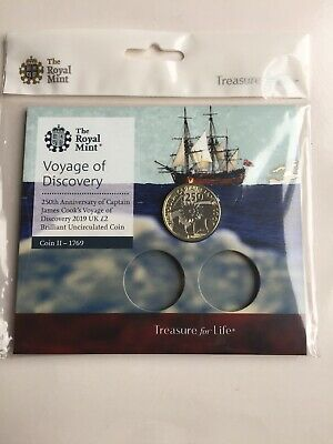 Voyage Of Discovery 2nd Captain Cook 2019 £2 Two Pound BU Coin ROyal Mint Pack