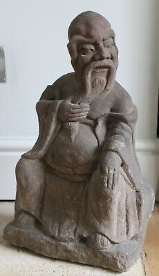 A Carved Ming Dynasty Stone Statue Of Shoulao