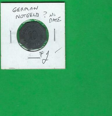 Germany Notgeld ? No Date ~ Old Coin Item  # 407 (*-*)
