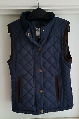 Girls Age 7 Yrs JASPER CONRAN / DEBENHAMS Navy Quilted Gilet Body Warmer