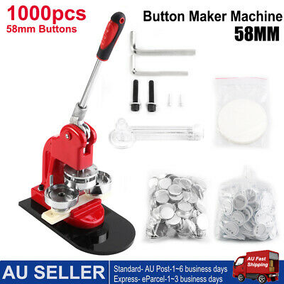 58mm Badge Punch Press Maker Machine With 1000 Circle Button Parts+Circle Cutter