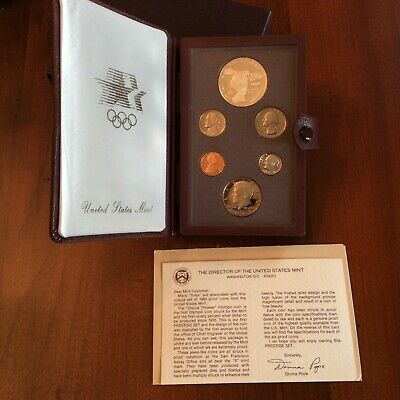 1983-S Prestige US Proof set with Olympic Silver Dollar in box