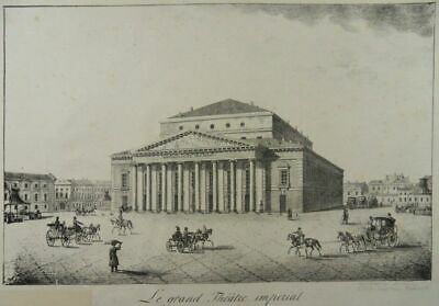 Sankt Petersburg Bolschoi-Theater Lithographie Pluchart Bolshoi Theatre Russia N