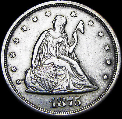 1875-S Seated Liberty Twenty Cent Piece 20cp ---- RARE TYPE COIN ---- #Z831