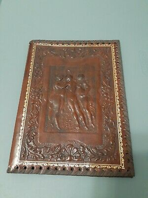 Antique  notebook book cover case made in Italy