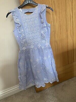 Girls Broderie Anglaise River Island Dress Age 10