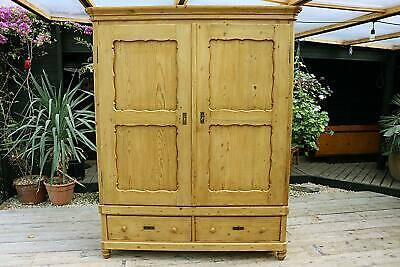 Wow! Huge! Old Pine Georgian! Double 'Knock Down' Wardrobe-We Deliver/Assemble!