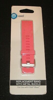 ONN* Adjustable FITBIT BLAZE Metal Buckle REPLACEMENT BAND PINK New!