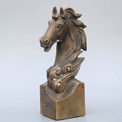 Collectable China Old Bronze Hand-Carved House Moral Auspicious Delicate Statue