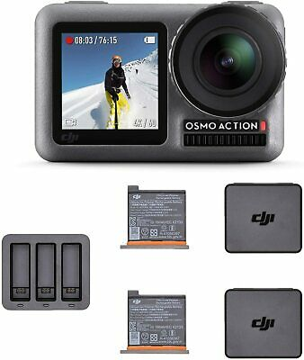 DJI Osmo Action Camera with 2 displays and Osmo Action Charging Kit Combo