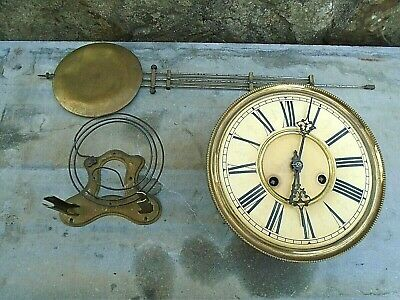 "Antique Vienna Style Clock Movement Complete-8"" Dial"