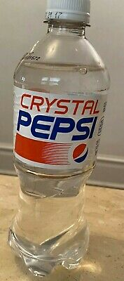 Full Crystal Pepsi Clear 20oz Bottle Limited