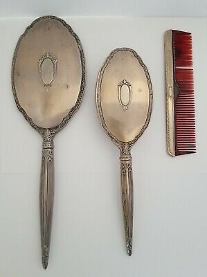 Vintage Sterling Silver Dresser Set - Brush, Mirror, And Comb by Saart Brothers