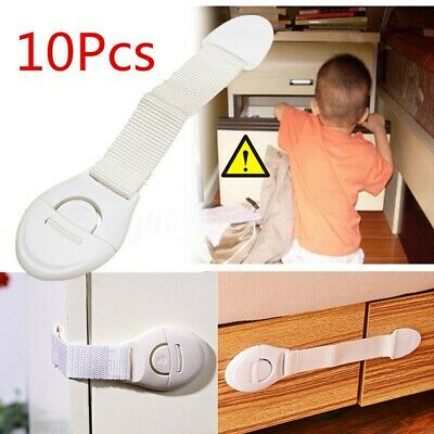 10 Pack Child Baby Safety Locks Childproofing Latches Cabinets Drawers Door