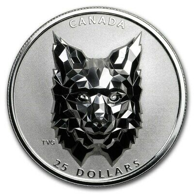 2020 $25 Canada Silver Multifaceted Lynx