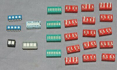 Lot of 24 Assorted Dip Switches
