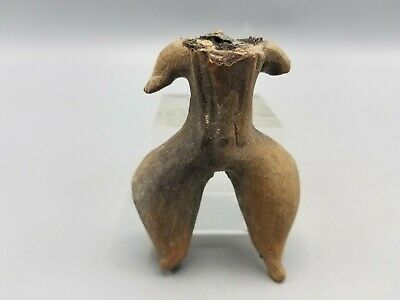 Ancient Small Headless Pre-Columbian Terracotta Statuette Fragment