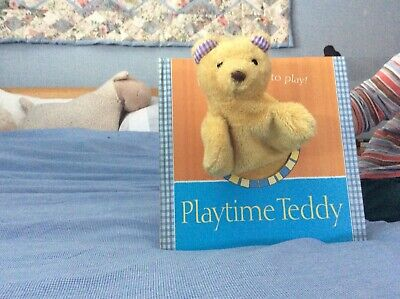 Book Playtime Teddy With Bear Hand Puppet
