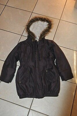 Girls John Lewis Purple Winter Coat Parka Size 7 Years 122Cm