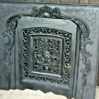 Antique Cast Iron Fireplace Surround Cover Insert Jackson Ny 1800'S