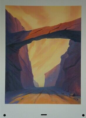 James Gurney Dinotopia original Disney animation painting background Canyon