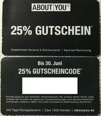 About You Aboutyou Gutschein Rabatt 25% Code MBW 75€ Paypal Mode aboutyou.de