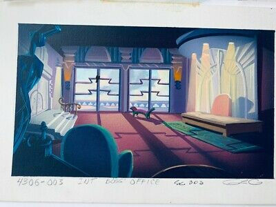 Boss' Office TaleSpin Original Background Color Key Painting Disney TV