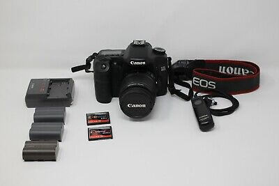 Canon Eos 40D+18-55 Ef Is Zoom+Canon Bg-E2N Battery Grip+Batteries & Charger+Exc