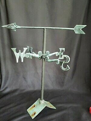 "Vintage Weathervane Brass East West Directional 14"" - Decor or Roof Mounted"