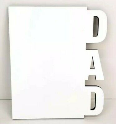 Dad Sublimation Blank Picture Frame with Stand (Set of 10).