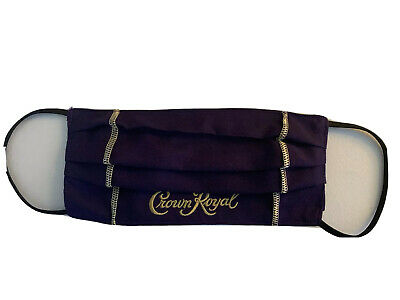 Hand Made CROWN ROYAL Expandable FACE MASK. AUTHENTIC PURPLE BAG