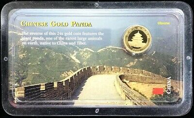 2000 Gold China 50 Yuan Panda 1/10 Oz Coin Mint State Condition