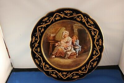 5 French Sevres Porcelain Portrait Plates 9 3/8""