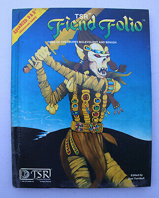 Vtg Advanced Dungeons & Dragons TSR Fiend Folio RPG 1st Edition 1981 2012 Book