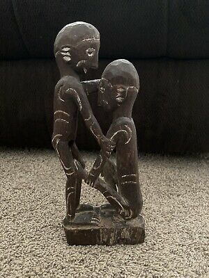 Antique African Tribal Fertility Reliquary Figure Statue Carved Wood Primitive