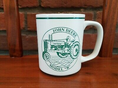"John Deere Model ""B' White Coffee Cup Mug Officially Licensed Product"